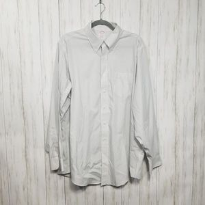 Brooks Brothers grey and white striped dress shirt